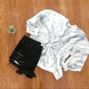 NEW Gray Spiral Tie dye sweatshirt S-5X Tops